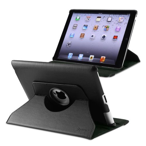 360-degree Swivel Leather Case Compatible with Apple® iPad® 2 / 3 / 4, Black