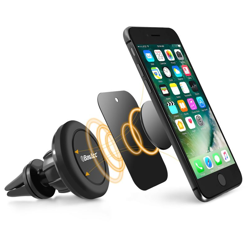 BasAcc-Stand-Universal-Cell-Phone-GPS-Air-Vent-Magnetic-Car-Mount-Cradle-Holder