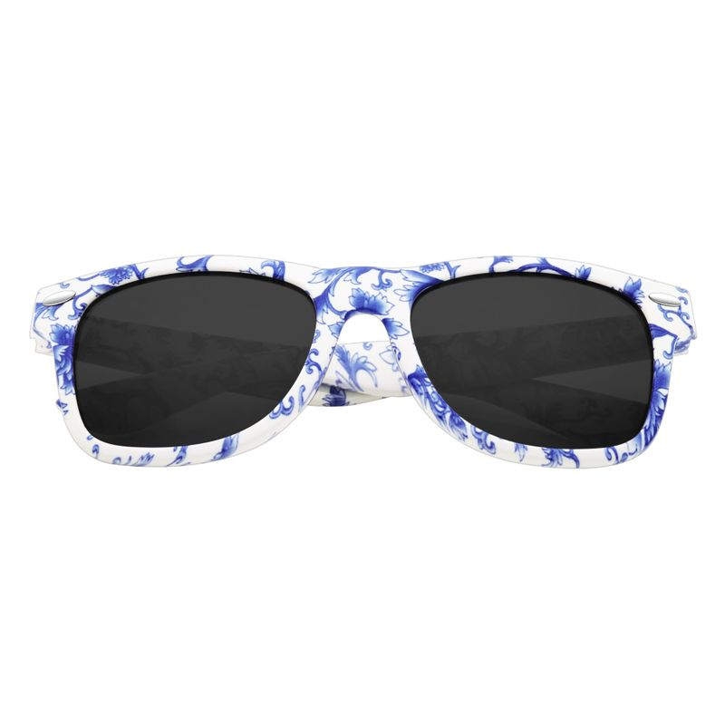 Las Sports Sunglasses  driving sports sunglasses blue white porcelain frame mirror lenses