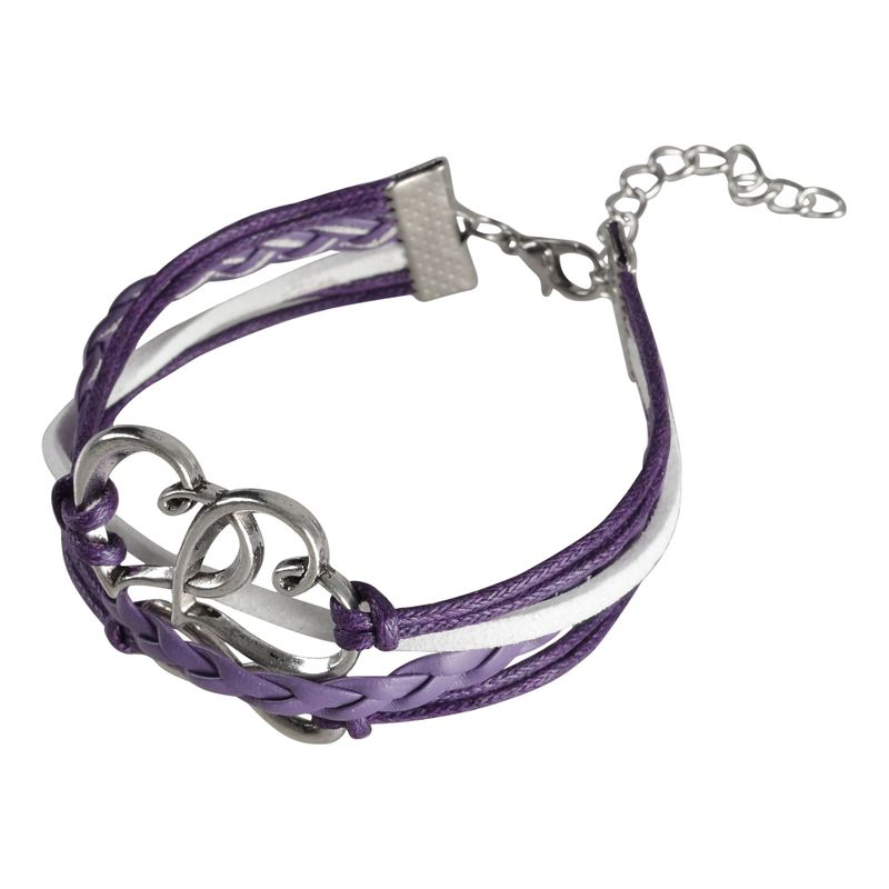 Fashion-Leather-Cute-Infinity-Charm-Bracelet-Jewelry-Silver-lots-Style-US-Seller