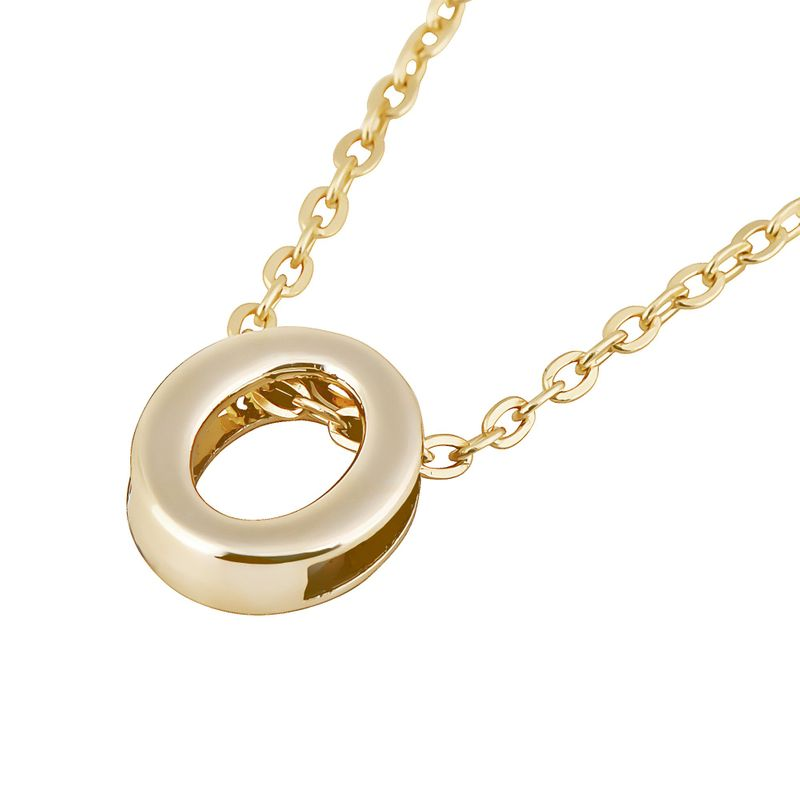 women gold plated alphabet initial letter chain pendant
