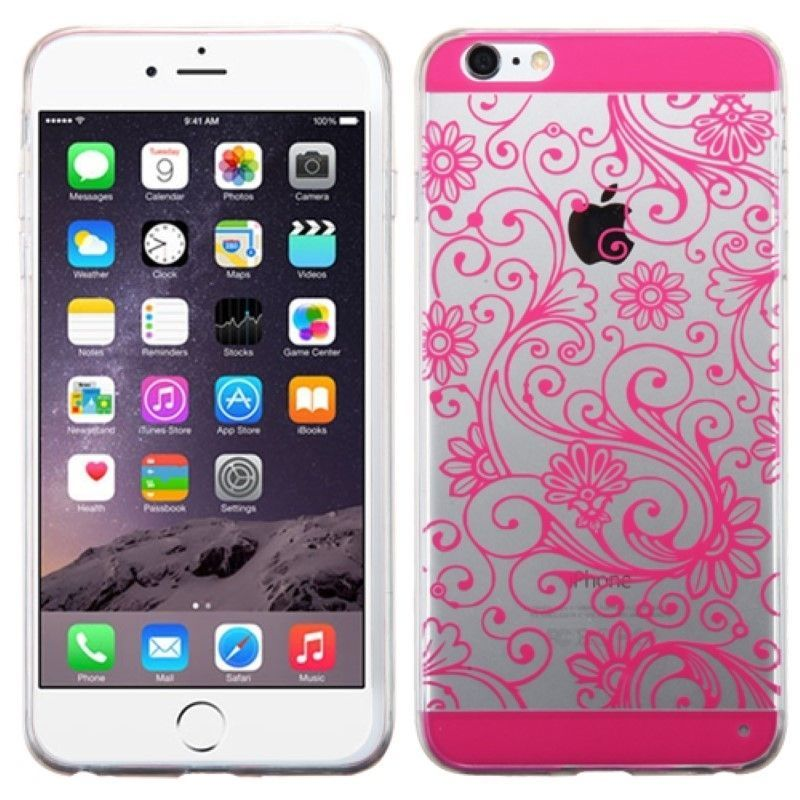 For Apple iPhone 6 PLUS 6s Slim Hybrid Damask Rubber Hard Protective Case Cover