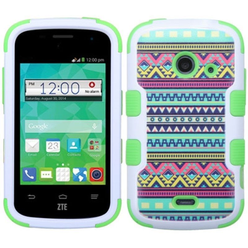 For ZTE Prelude2 Z667 Zinger Z667T TUFF Hybrid Hard Soft Dual Layer Case Cover