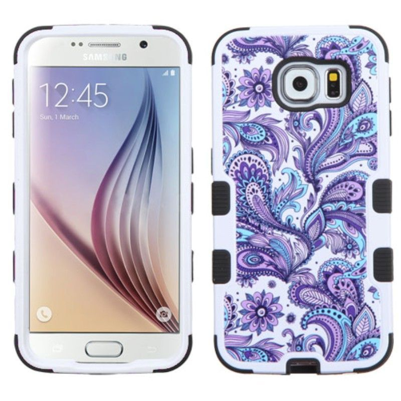 For Samsung Galaxy S6 Dual Layer Hard Silicone TUFF Hybrid Phone Cover Case