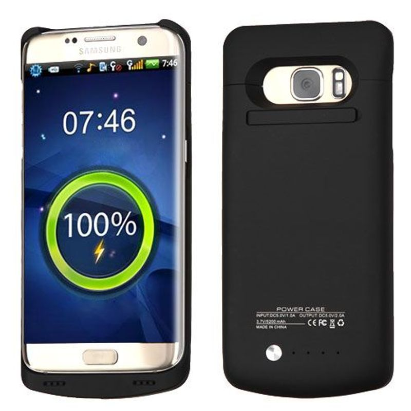 For-Samsung-Galaxy-S7-Edge-5200-mAh-Rubberized-Quantum-Energy-Battery-Case