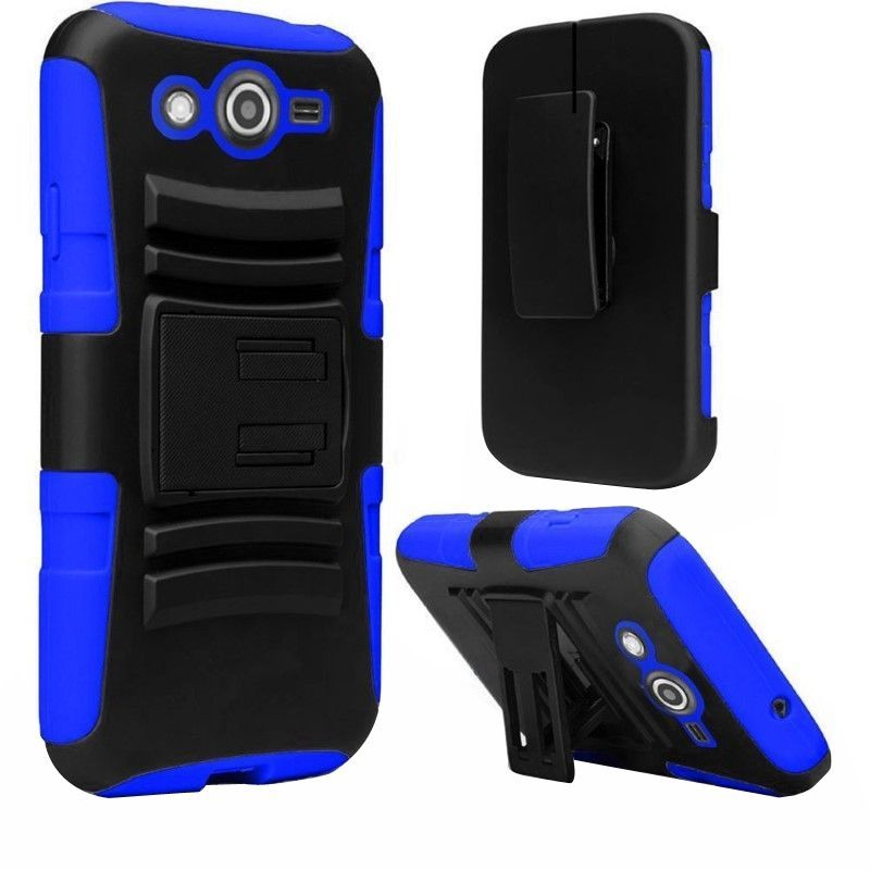 For Samsung Galaxy Avant G386 Heavy Duty Armor Cover Case w/ Holster Stand