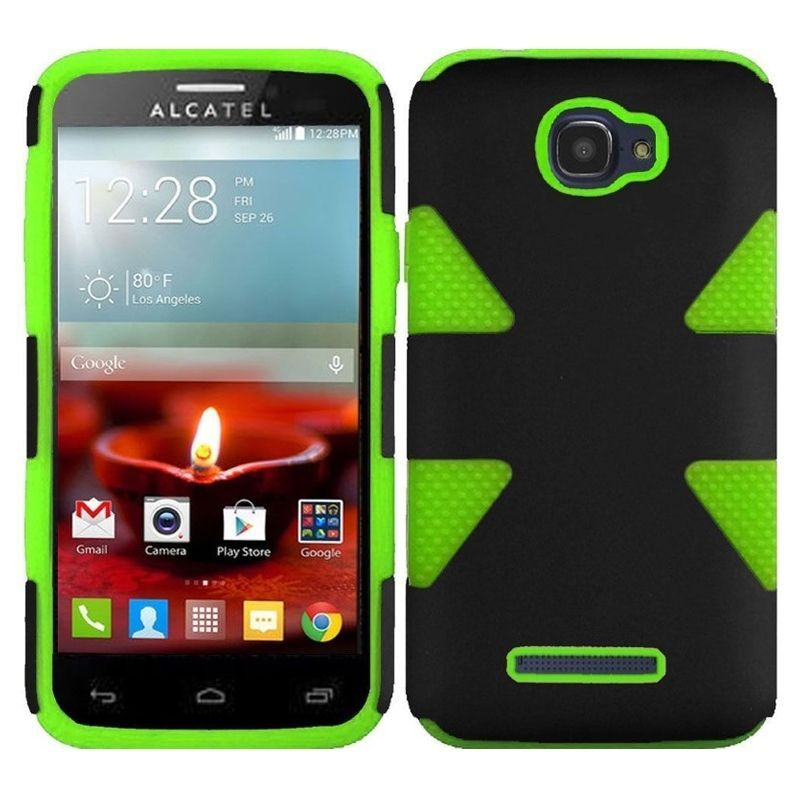 For Alcatel One Touch Fierce 2 7040T Back Hard Silicone Hybrid Rubber Case