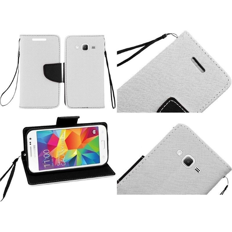 Wallet Card Holder Cover Phone Case For Samsung Galaxy Prevail LTE / Core Prime