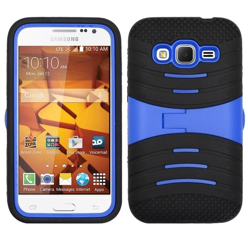 Armor Hybrid Impact Hard Case Cover For Samsung Galaxy Core Prime & Prevail LTE