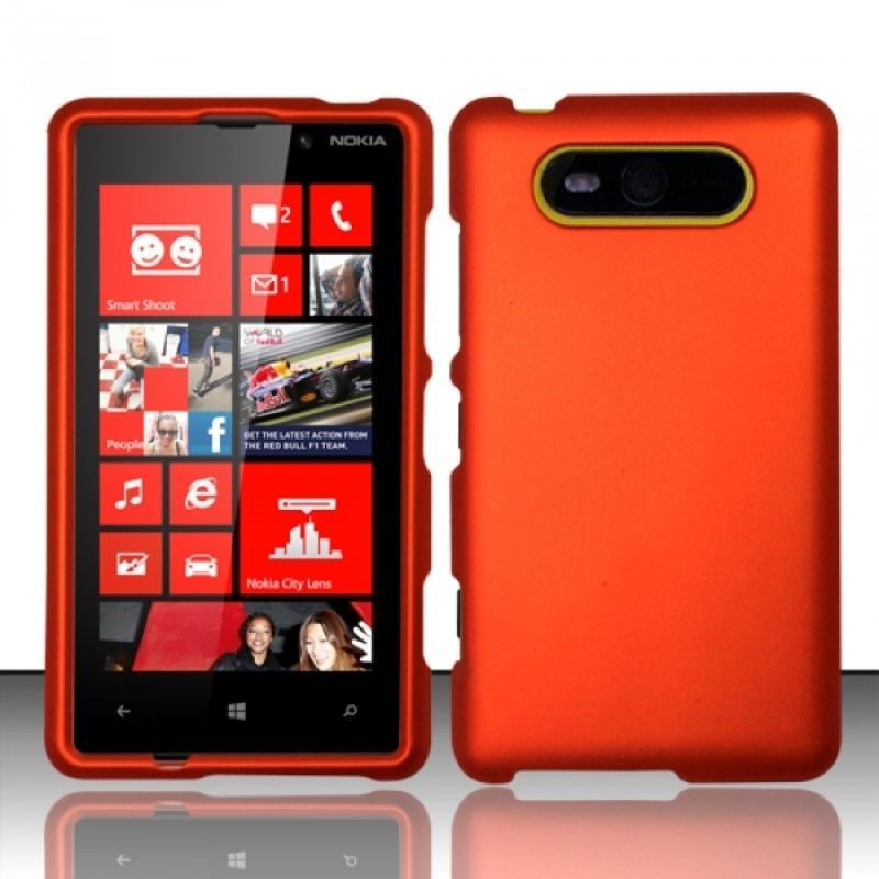 For Nokia Lumia 820 Rubberized Hard Case Cover