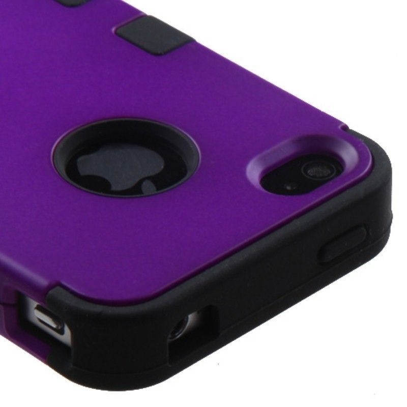 Rubberized-TUFF-Hybrid-Dual-Layer-Phone-Protective-Cover-Case-For-iPhone-4-4s