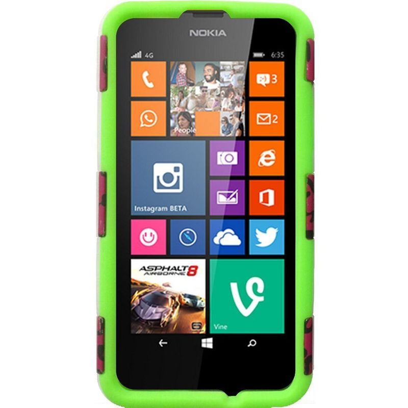For Nokia Lumia 635 Hybrid Rugged Armor Hard Matte Shockproof Case Cover