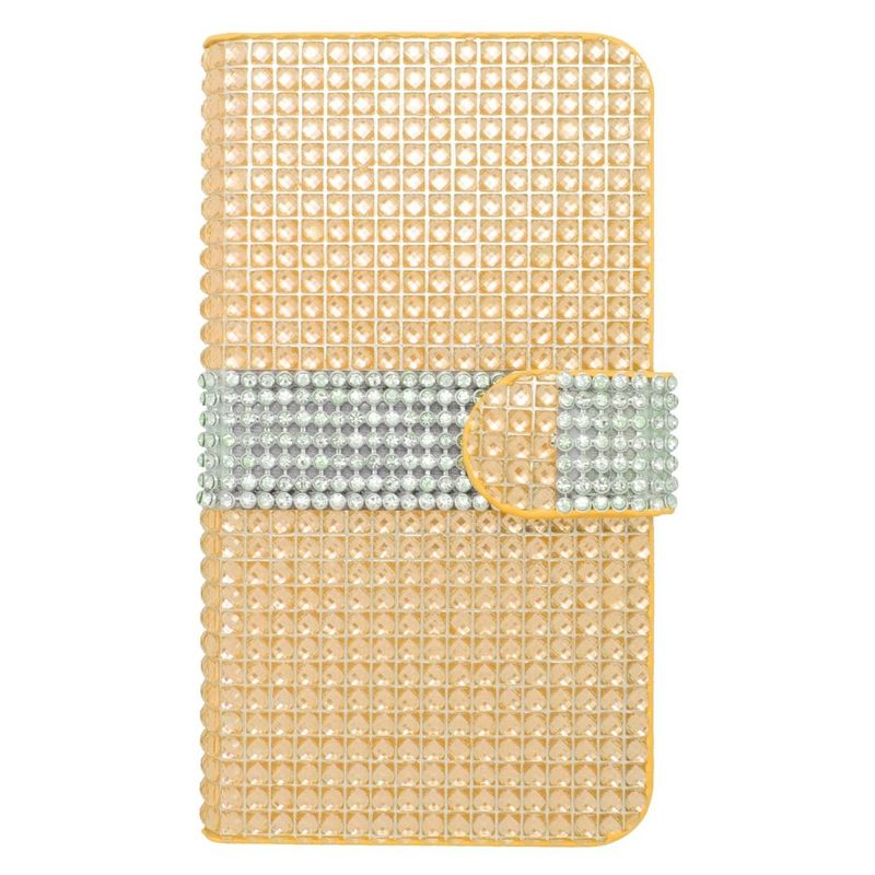 Diamond-PU-Leather-Flip-Wallet-Stand-Case-Cover-Skin-For-LG-Optimus-Zone-3-Spree