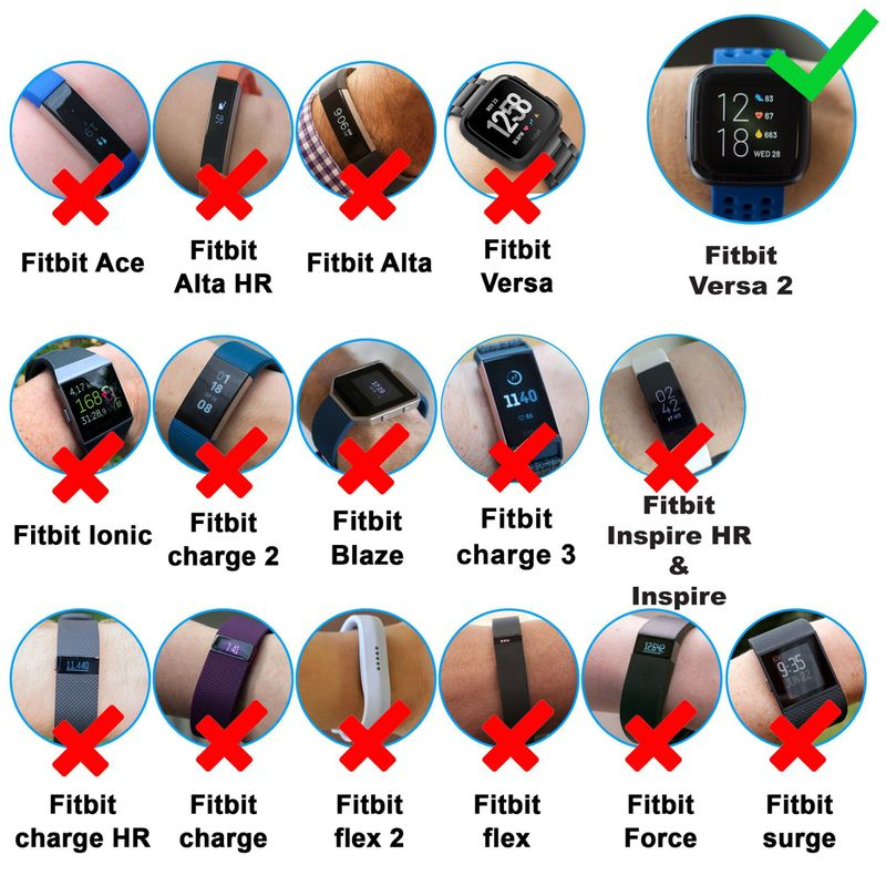 For Fitbit Versa 2 Smartwatch USB Charging Cable Replacement Charger Dock Cradle