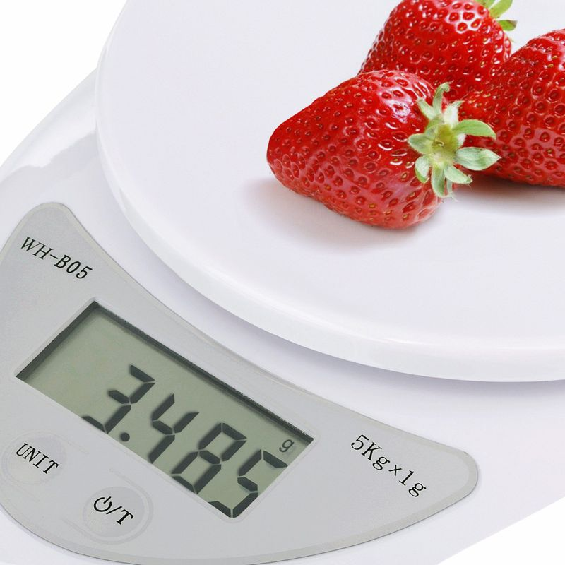 Digital Kitchen Scale 1-5000 g Diet Food Compact Kitchen Scale 0.1 - 176 oz