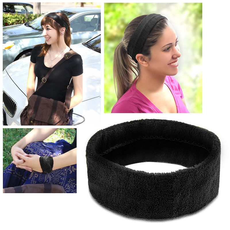 Women-Men-Sport-Sweat-Sweatband-Headband-Yoga-Gym-Stretch-Head-Band-Hair-US-SHIP