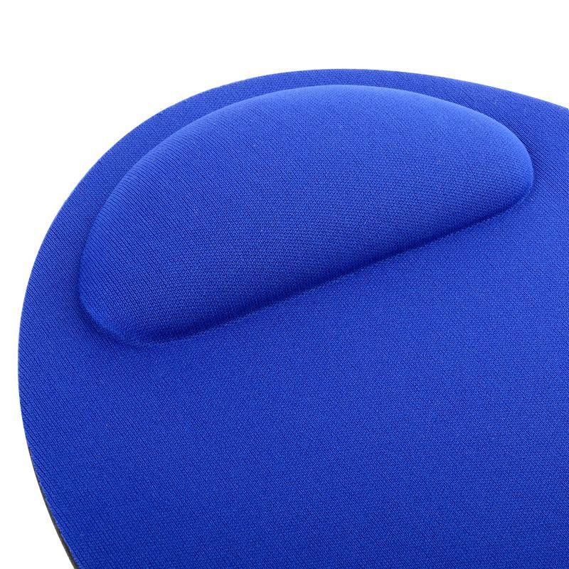 Blue-Wrist-Comfort-MousePad-Red-Black-USB-Optical-Scroll-Wheel-Mouse thumbnail 5