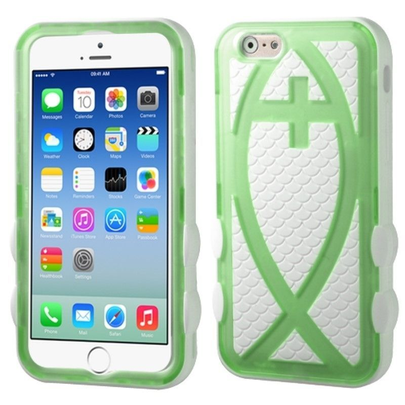 Stylish-Fish-Hard-Silicone-Hybrid-Protector-Case-Cover-For-Apple-iPhone-6-6s