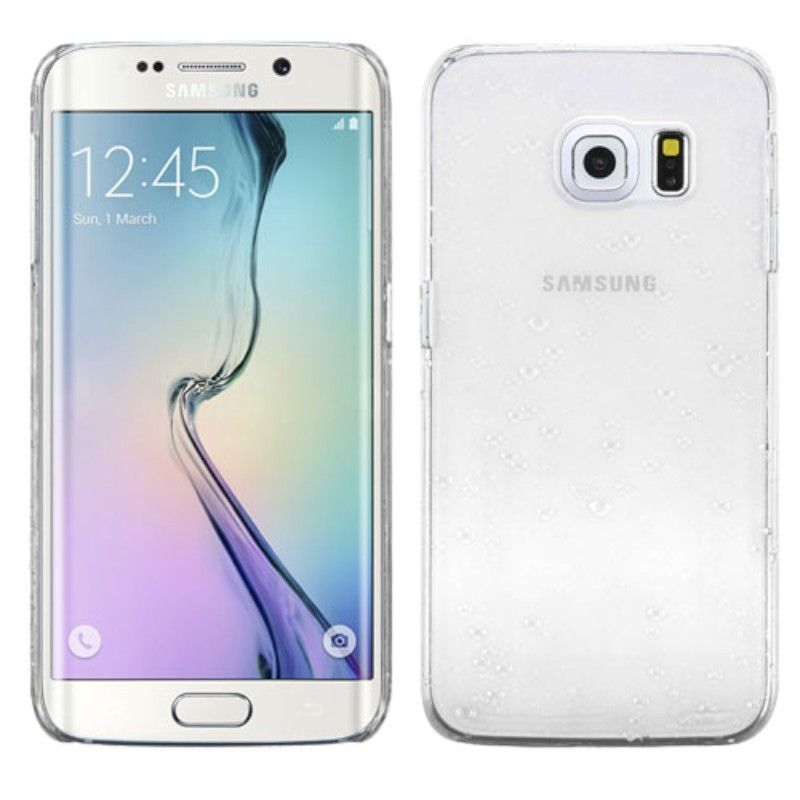 For-Samsung-Galaxy-S6-Edge-Transparent-Gradient-Water-Drop-Back-Case-Cover