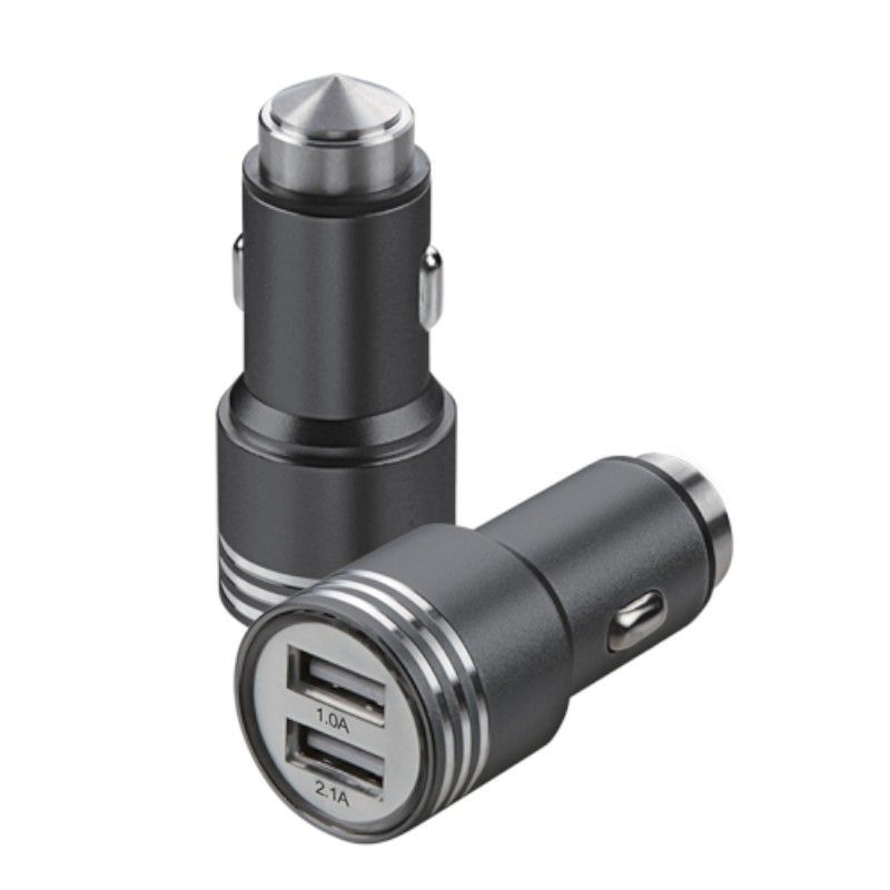 2-Port-Dual-USB-2-1A-Car-Charger-Adapter-Bullet-Fast-Charging-For-Mobile-Phones thumbnail 2