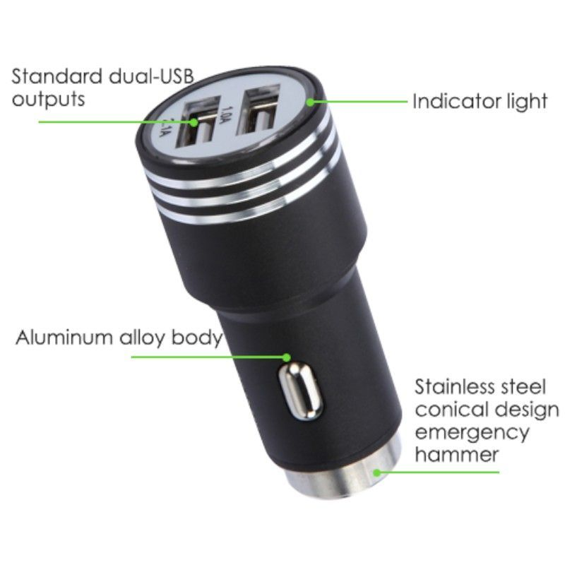 2-Port-Dual-USB-2-1A-Car-Charger-Adapter-Bullet-Fast-Charging-For-Mobile-Phones thumbnail 6