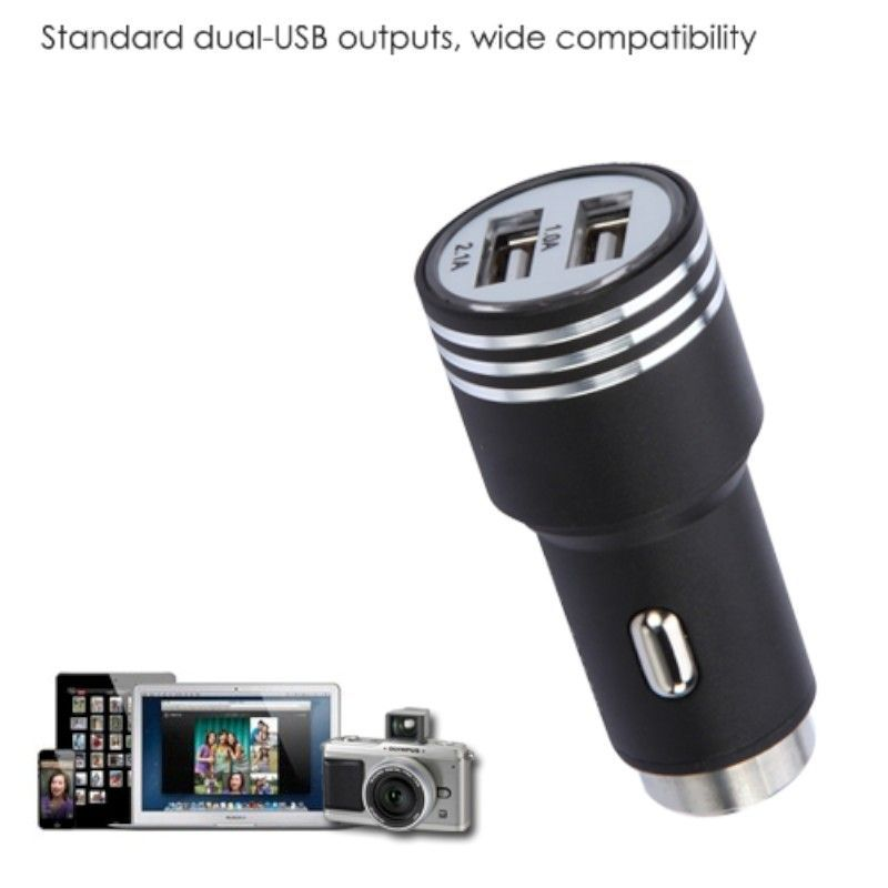 2-Port-Dual-USB-2-1A-Car-Charger-Adapter-Bullet-Fast-Charging-For-Mobile-Phones thumbnail 8