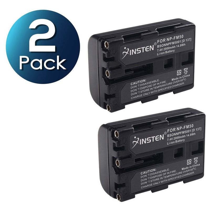 TWO-Battery-Pack-for-Sony-NP-FM30-NP-FM50-DSC-S30-DSC-S85-F707-F717-F828