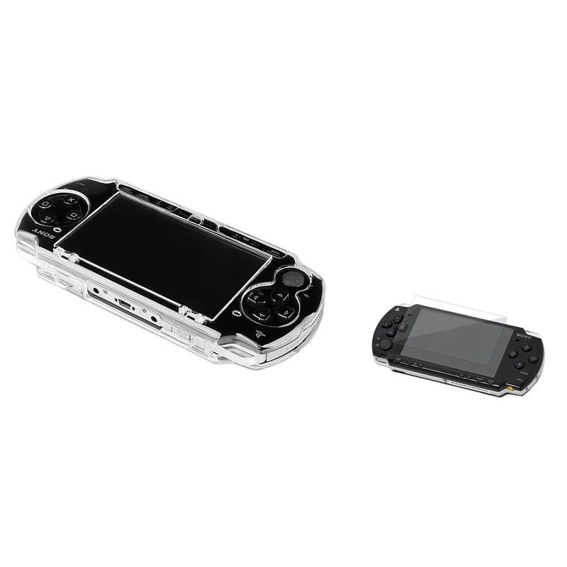 For-Sony-PSP-3000-Crystal-Cover-Case-Clear-LCD-Screen-Protector