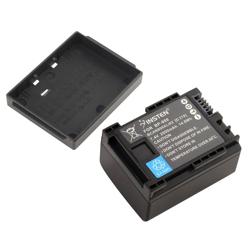 Decoded-Battery-for-Canon-BP-808-BP808-BP-819-BP-809-FS10-FS11-FS100 miniatuur 3