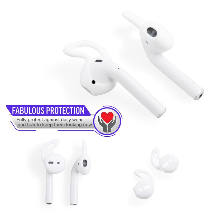 1-2-3-Pair-Ear-Hooks-Anti-Slip-Silicone-Skin-Cover-For-Apple-AirPods-Earbuds-Cap thumbnail 15