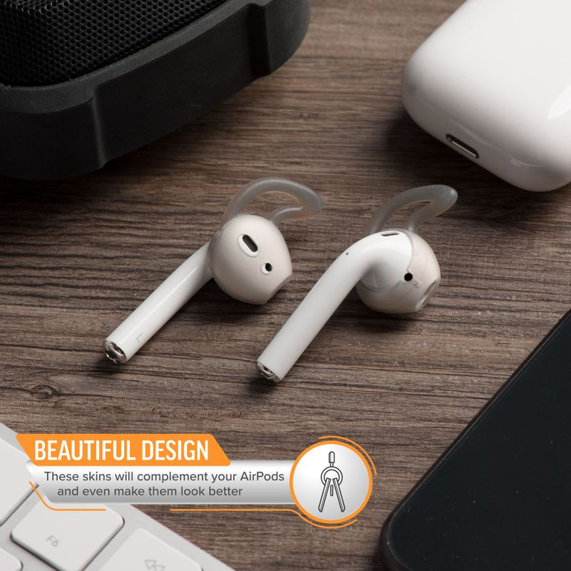 1-2-3-Pair-Ear-Hooks-Anti-Slip-Silicone-Skin-Cover-For-Apple-AirPods-Earbuds-Cap thumbnail 11