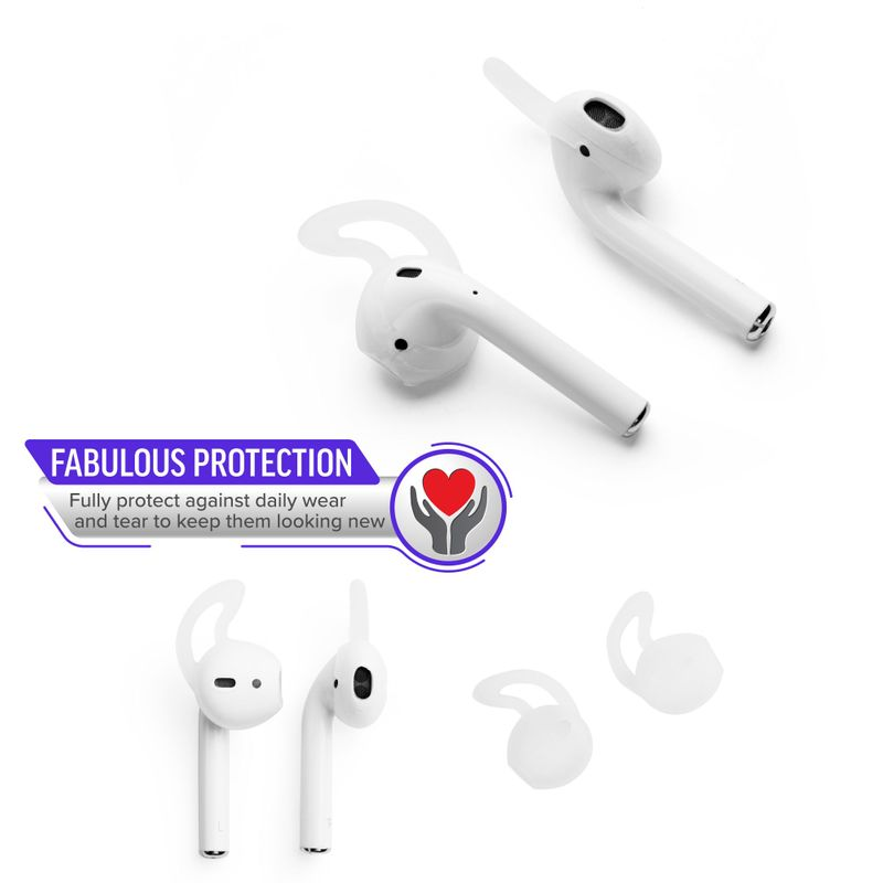 1-2-3-Pair-Ear-Hooks-Anti-Slip-Silicone-Skin-Cover-For-Apple-AirPods-Earbuds-Cap thumbnail 5