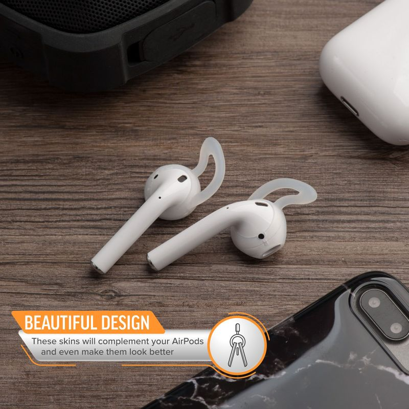 1-2-3-Pair-Ear-Hooks-Anti-Slip-Silicone-Skin-Cover-For-Apple-AirPods-Earbuds-Cap thumbnail 6