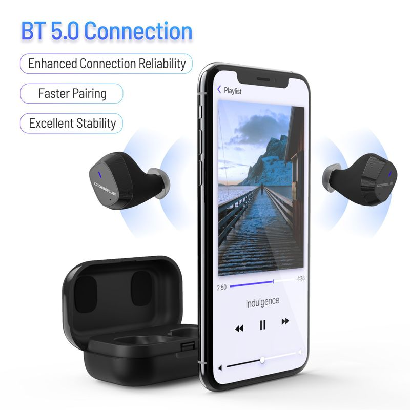 Cobble-Pro-True-Wireless-Bluetooth-5-0-Stereo-Headphone-Earbud-Portable-Charging thumbnail 4