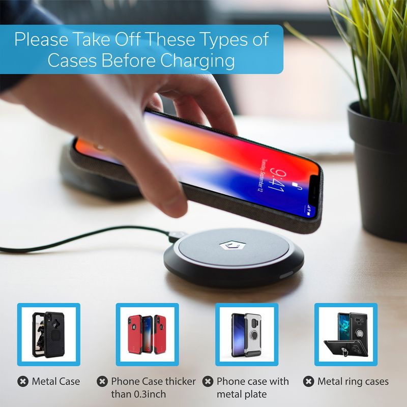 Cobble-Pro-10W-Qi-Fast-Wireless-Charger-Pad-Charging-Dock-for-iPhone-X-XR-XS-8 thumbnail 7