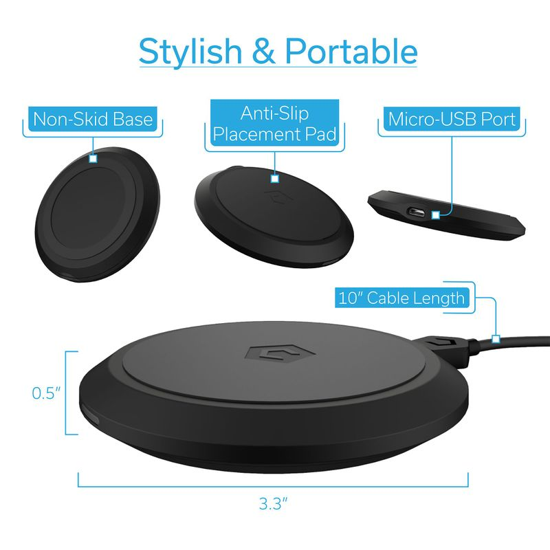 Cobble-Pro-10W-Qi-Fast-Wireless-Charger-Pad-Charging-Dock-for-iPhone-X-XR-XS-8 thumbnail 9