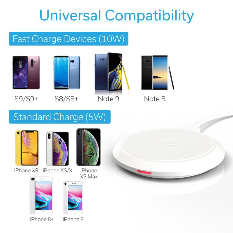 Cobble-Pro-10W-Qi-Fast-Wireless-Charger-Pad-Charging-Dock-for-iPhone-X-XR-XS-8 thumbnail 32