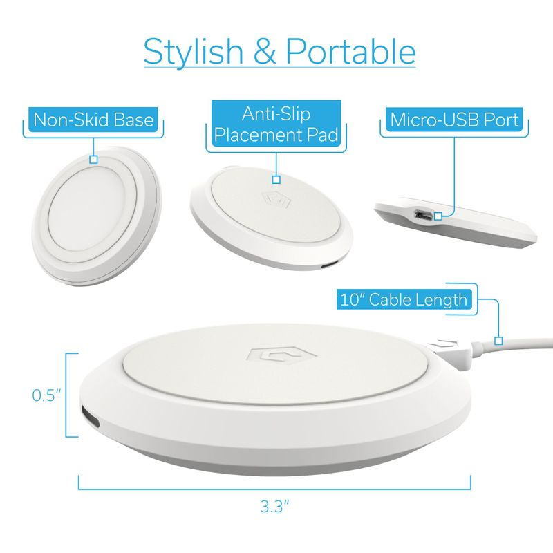 Cobble-Pro-10W-Qi-Fast-Wireless-Charger-Pad-Charging-Dock-for-iPhone-X-XR-XS-8 thumbnail 33