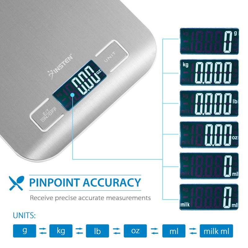 Luxury-Stainless-Steel-LED-Digital-Scale-For-Food-Kitchen-Postal-11lb-5000g-x1g thumbnail 11