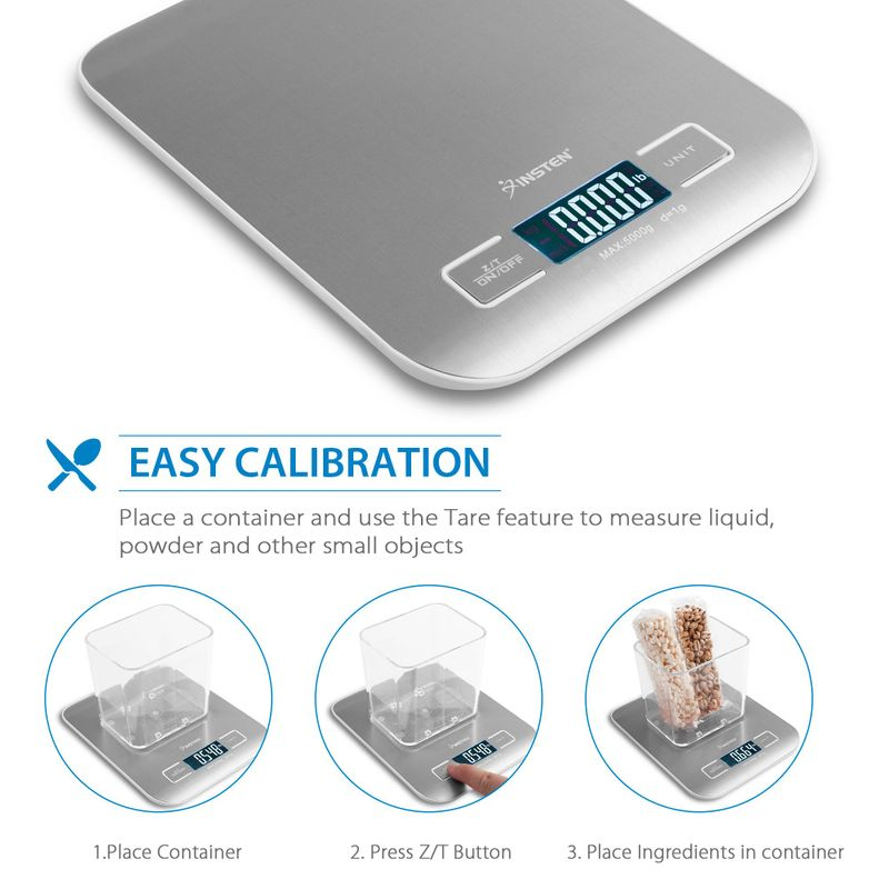 Luxury-Stainless-Steel-LED-Digital-Scale-For-Food-Kitchen-Postal-11lb-5000g-x1g thumbnail 12