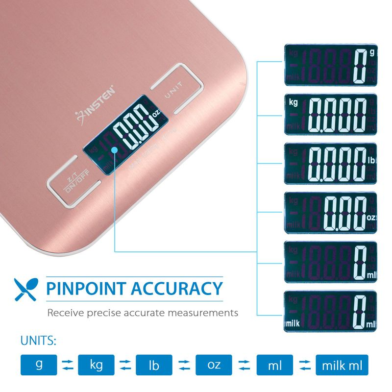 Luxury-Stainless-Steel-LED-Digital-Scale-For-Food-Kitchen-Postal-11lb-5000g-x1g thumbnail 3
