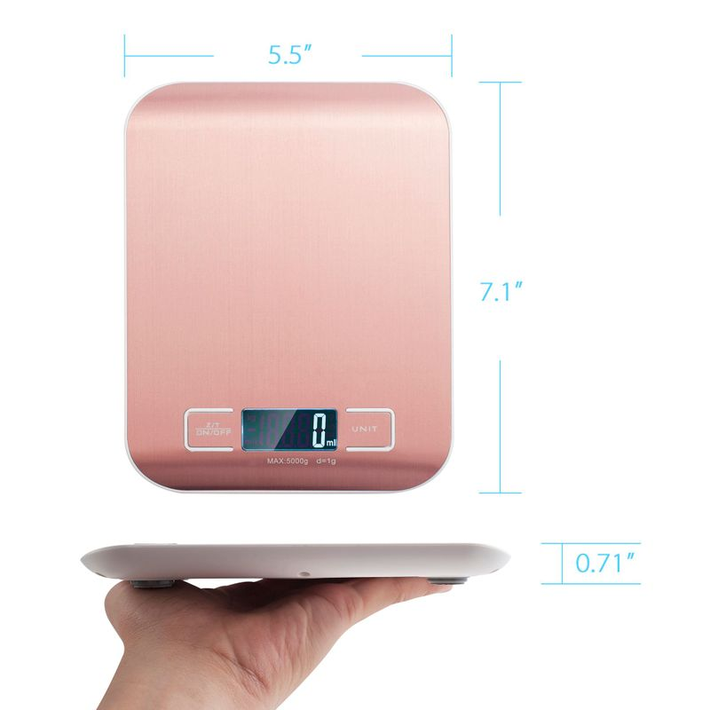Luxury-Stainless-Steel-LED-Digital-Scale-For-Food-Kitchen-Postal-11lb-5000g-x1g thumbnail 7