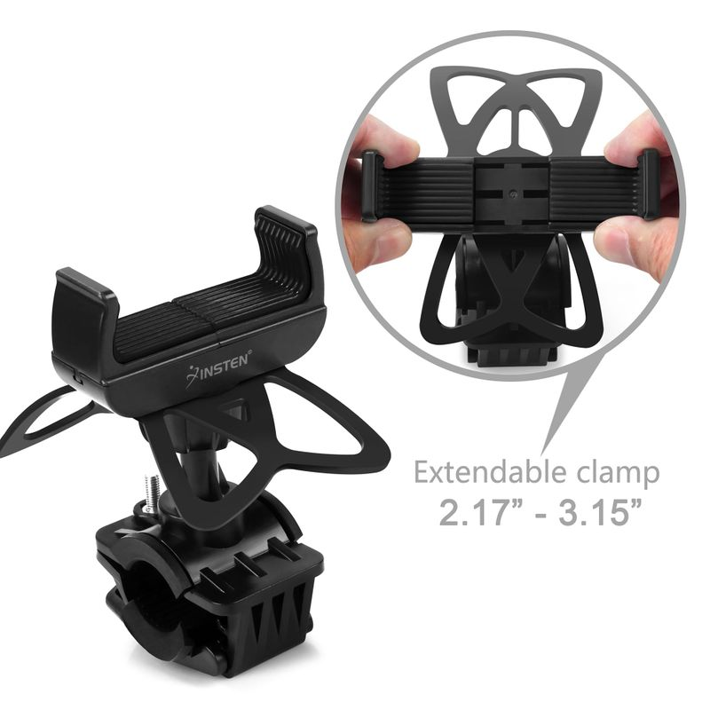 Motorcycle-Bike-Bicycle-Handlebar-Mount-Holder-For-Samsung-iPhone-Cell-Phone-GPS thumbnail 3