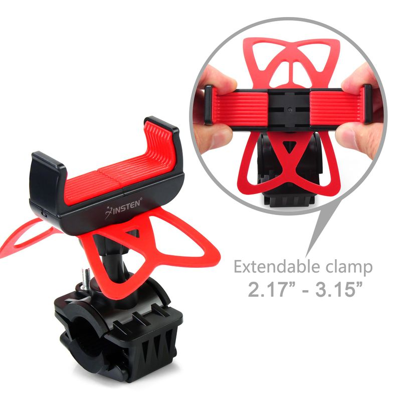 Motorcycle-Bike-Bicycle-Handlebar-Mount-Holder-For-Samsung-iPhone-Cell-Phone-GPS thumbnail 9