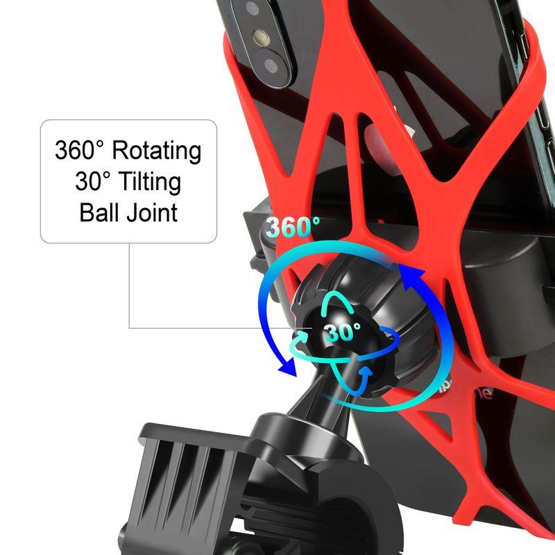 Motorcycle-Bike-Bicycle-Handlebar-Mount-Holder-For-Samsung-iPhone-Cell-Phone-GPS thumbnail 11