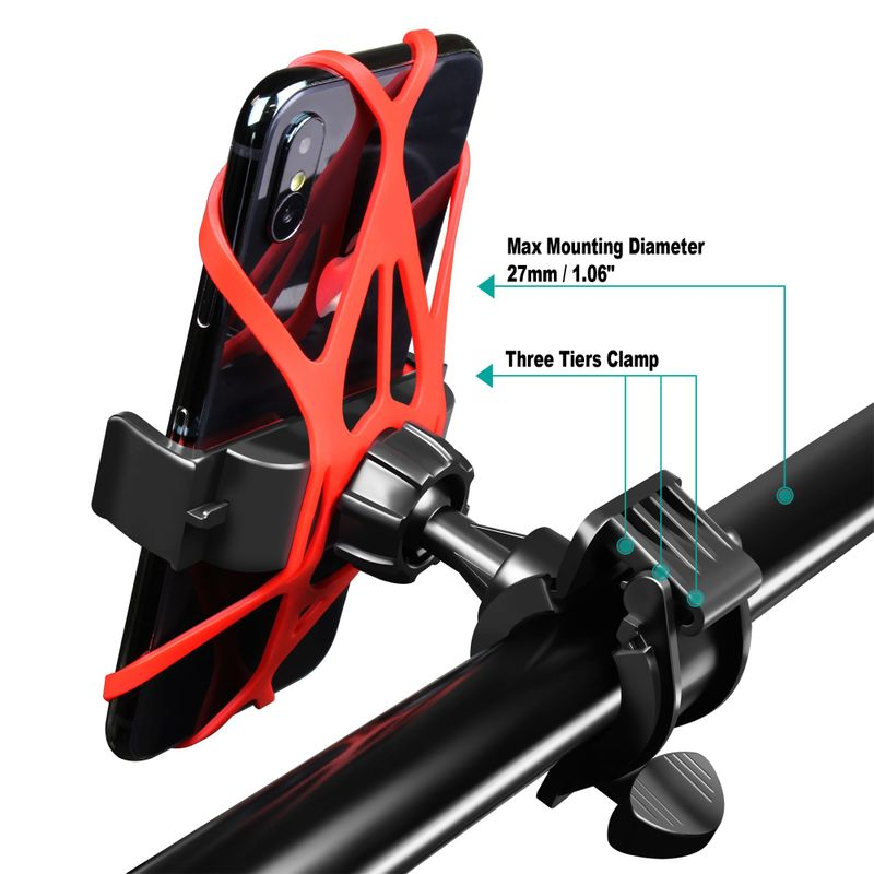 Motorcycle-Bike-Bicycle-Handlebar-Mount-Holder-For-Samsung-iPhone-Cell-Phone-GPS thumbnail 13