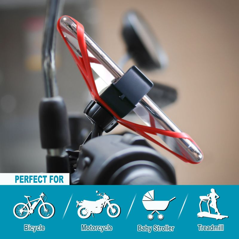 Motorcycle-Bike-Bicycle-Handlebar-Mount-Holder-For-Samsung-iPhone-Cell-Phone-GPS thumbnail 14