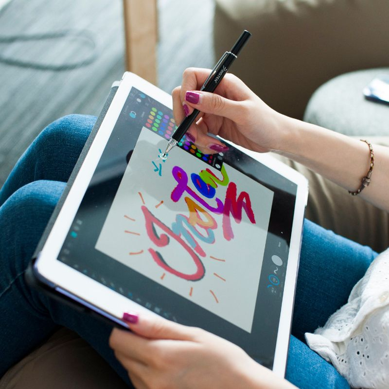 Universal-Capacitive-Tip-Touch-Screen-Stylus-Drawing-Pen-For-iPad-Tablet-iPhone thumbnail 8