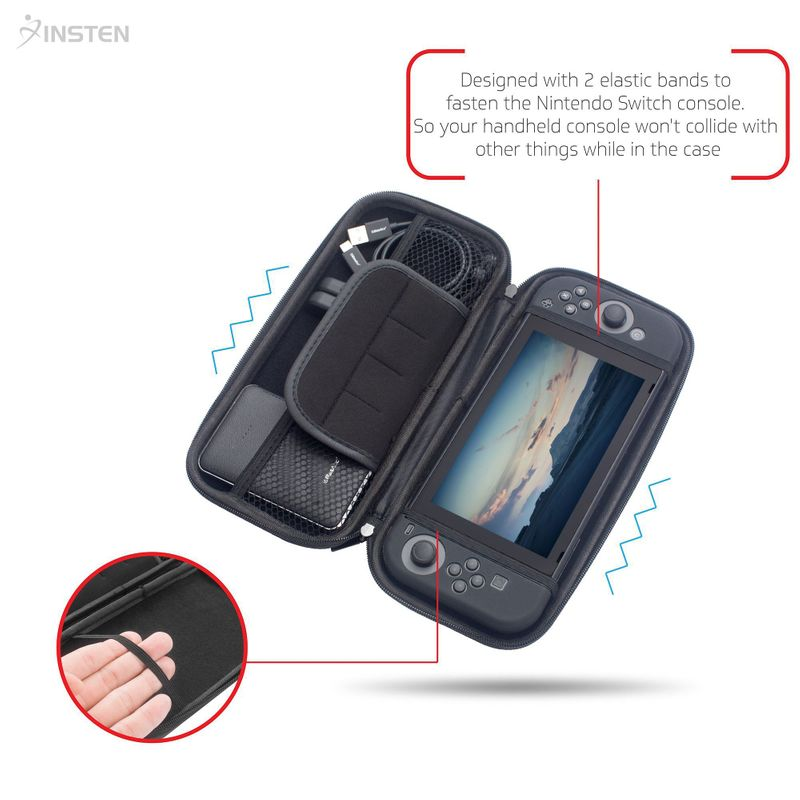 For-Nintendo-Switch-Hard-Shell-Carrying-Case-Protective-Travel-Storage-Bag-Cover miniature 3