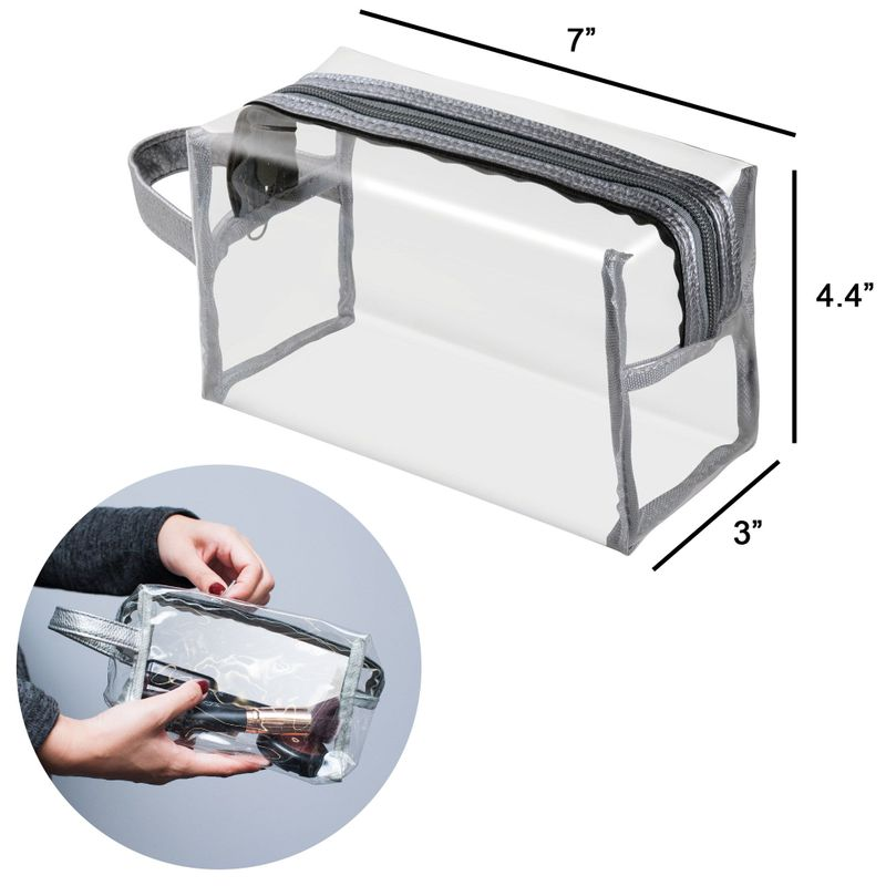 Waterproof-PVC-Zip-Pouch-Kit-Transparent-Clear-Travel-Cosmetic-Wash-Bag-Storage thumbnail 9